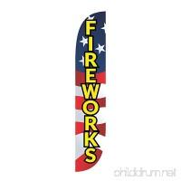 LookOurWay Fireworks American Flag USA Feather Flag 12-Feet - B06Y3TQRJL
