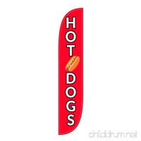 LookOurWay Hot Dogs Feather Flag 12-Feet - B074P4ZWSY