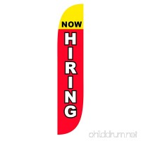 LookOurWay Now Hiring Feather Flag  12-Feet - B0764LDYZD
