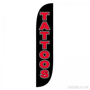 LookOurWay Tattoos Feather Flag 12-Feet - B07654BDQS