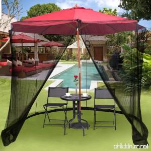 TANGKULA 9/10FT Patio Umbrella Screen Umbrella Mosquito Net Outdoor Patio Netting Canopy Mesh - B075YRW8L8