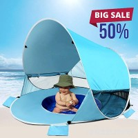 [2018 UPGRADED]Baby Beach Tent-Pop Up Beach Tent With Pool Shade Cabana Portable UV Sun Shelter - B07BKRNM9J