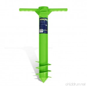 Beach Umbrella Anchor Sand Auger and Fishing Pole Sand Anchor by JGR Copa (Green) - B01G81438O