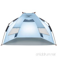 Easthills Outdoors Instant Shade Easy Up Portable Beach Tent Sun Shelter - UPF 50+ - B07715NB73