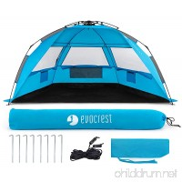 Evocrest Easy Setup Beach Tent - Large Beach Cabana Sun Shelter with UPF 50+ Protection - Portable & Lightweight - Perfect for 2-3 People - B07B52ZTJY