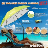 Fishing patio beach umbrella with 4.39lb  windproof/waterprool/portable Tilt and Telescoping Pole/Sand Anchor sturdy umbrella  use for beach/lawn/back yard/patio/park/shadezilla/outdoor travel/garden - B071WPYCRG