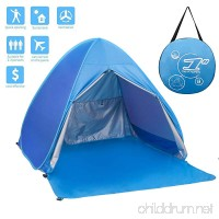 FLYTON Pop Up Beach Tent Shade Sun Shelter UV Protection Canopy Cabana 2-3 Person for Adults Baby Kids Outdoor Activities Camping Fishing Hiking Picnic Touring - B07D77JDZK
