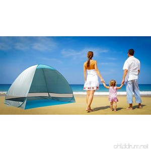 Funkatron Outdoor Deluxe Beach Tent Automatic Pop Up Quick Portable UV Sun Sport Shelter Cabana Instant Easy Up Beach Umbrella Tent - B07939N5RM