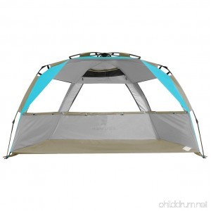 G4Free Easy Set up Beach Tent Pop up Sun Shelter Large Family Beach Shade UV Protection for Baby Kids 4 Person Portable Camping Shelter for Outdoor Sports Beach tour Hiking Fishing or Picnic - B07DHL87T9