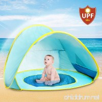 Hippo Creation UV Protection Baby Beach Tent with Pool  Pop-up Sun Canopy Shelter  Kiddie Beach Umbrella  Excellent for Infant and Kid up to 3 Years Old - B071HRDVTY