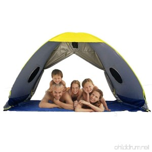 RIJER Larger Instant Sun Shade tent for 4-5 people POP UP Family UV Playbeach Tent Cabana Anti UV Portable Automatic Sun Shelter ForCamping Fishing Hiking Easy Set Up - B07BDFMMZ7