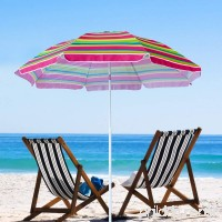 Snail 6.5' Tilting Beach Umbrella with Aluminum Pole & Fiberglass Ribs  Rainbow Fabric - B078KHK1HD