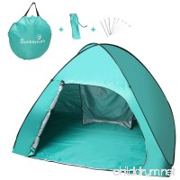 Sunba Youth Beach Tent Pop Up Tent Baby Beach Sun Shade UV Protection Sun Shelter - B01K74201A