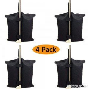 YELAIYEHAO Industrial Grade Heavy Duty Double-Stitched Weights Bag Leg Weights for Pop up Canopy Tent Weighted Feet Bag Sand Bag outdoor bag Black. - B073R66612