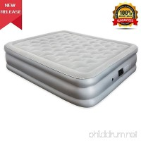 JEAREY Air Mattress with Built-in Pump - Premium Queen Size Air Mattress Inflatable Air Bed - Elevated Raised Air Mattress with Thick and Waterproof Comfort Flocking Top - B07D3NSV7N