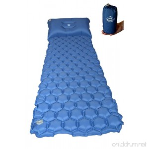 My Outdoors Lightweight Sleeping Pad - compact and very light sleeping mat with pillow. Insulated and great for camping travelling and hiking. - B07C6636L5