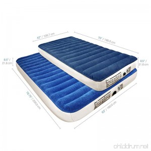 SoundAsleep Camping Series Air Mattress with Eco-Friendly PVC - Included Rechargeable Air Pump - B07BZYTBPY
