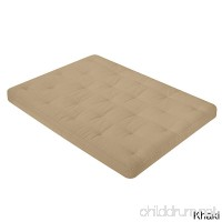 WOLF Corporation Serta Ella Convoluted Foam  Cotton  and Polyester Blend 8-inch Futon Mattress Bed in a Box Made in the USA Khaki Full - B073L339MF
