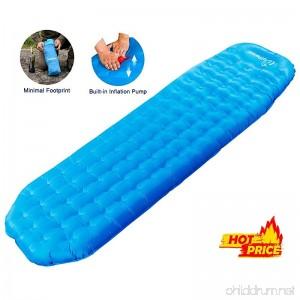 WolfWise Lightweight Inflatable Sleeping Pad Tent Static Air Mattress Backpacking Sleep Pads - B072XKNPMX